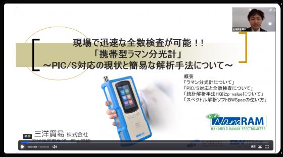 携帯型ラマン分光計 ~PIC/S対応の現状と簡易な解析手法について~